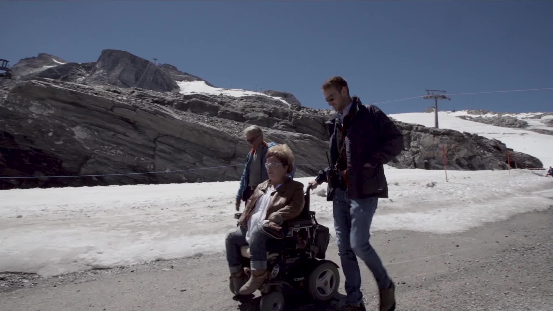 Gipfeltreffen am Hintertuxer Gletscher - Marianne Hengl & Peter Habeler